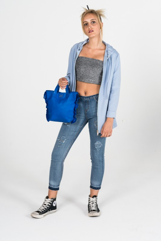 Miniavril in nappa bluette