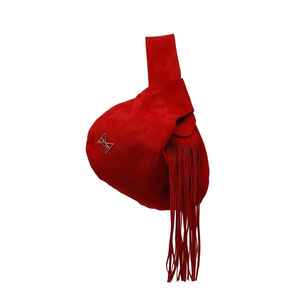 QB camoscio rosso da polso