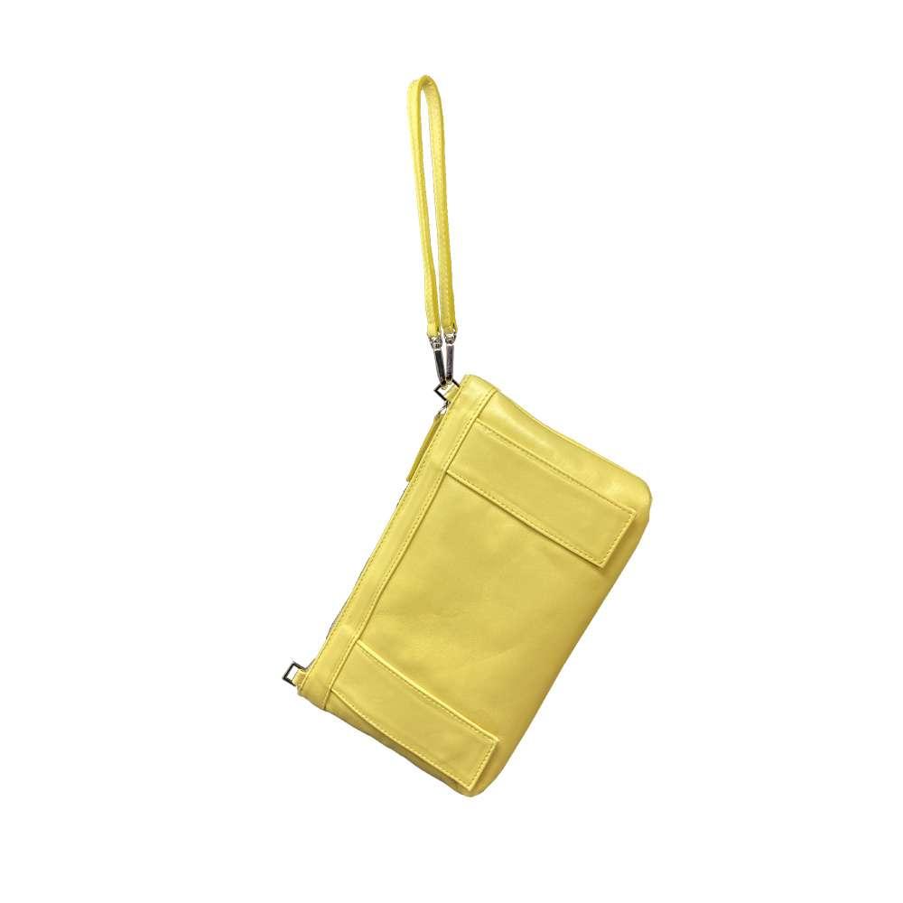 ginger gialla retro morphè piume struzzo polso